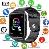 2019 relógio inteligente relógio de pulso sync notifier apoio sim tf cartão conectividade apple iphone android telefone feminino masculino smartwatch gt08 a1 a6|Relógios inteligentes| |  -