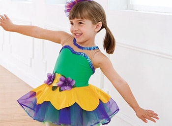2018 New Girl Ballet Dance Dress Kids BalletTutu Costume Children Stage Proformance Competition Suit Dress+Headwear  B-2395