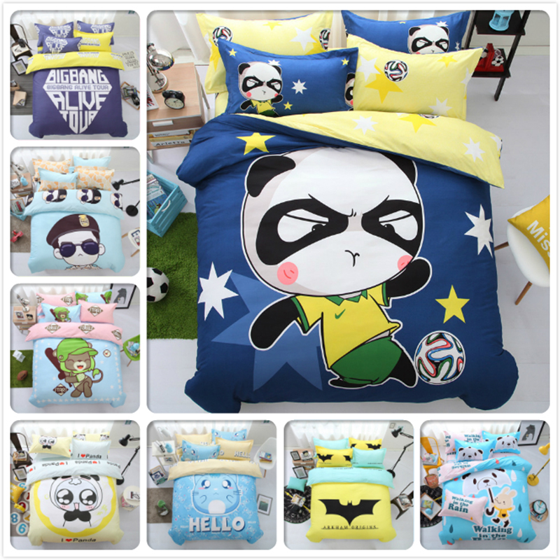 Kung Fu Panda Soccer AB Side Bedding Set 3pcs 4pcs Bedlinen 1.5m 1.8m 2m Bed Sheet King Queen Double Size Duvet Cover Pillowcase