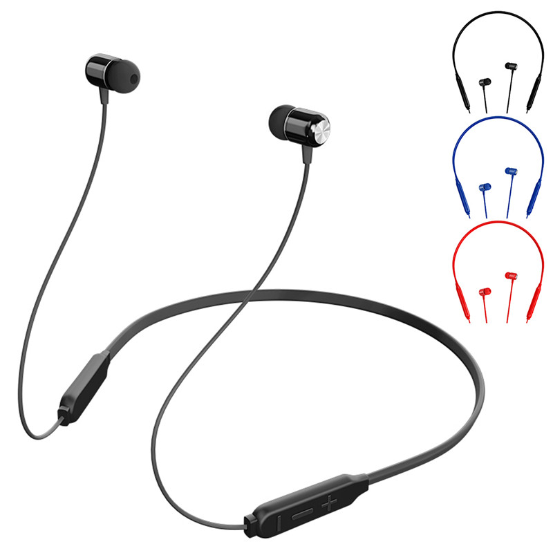 SOONHUA Fashion Wireless Bluetooth V4.2 Earphone Stereo Sports Sweatproof Headphones Magnetic Neckband With Mic For Mobile Phone