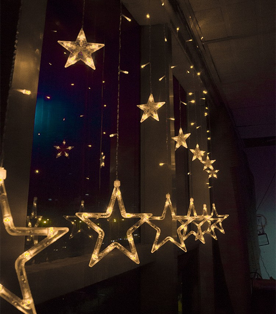 220v/110v Fashion romantic color flashing LED string lights star curtain lights  marriage room decorative water icicle lights