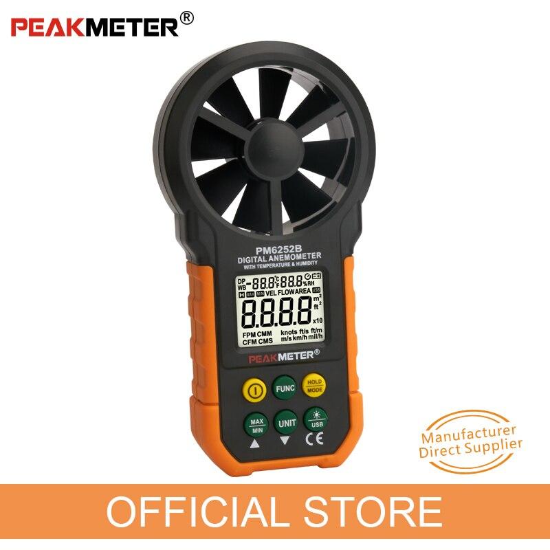 Anemometro digitale Misuratore di umidità della temperatura - Strumenti di misura - Fotografia 2