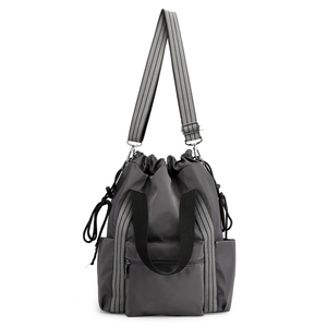 Image 5 - Womens Nylon Backpacks Multi function Bags Fashion Shoulder Bags Drawstring Backpacks For Girls Multi backpack Way Young Ladies