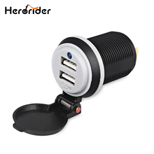 Herorider Car Charger Boat Motorcycles Modified Dual USB Socket Charger Adapter Power 2 Ports USB Car Charger 12v 2 1 car charger with dual usb ports