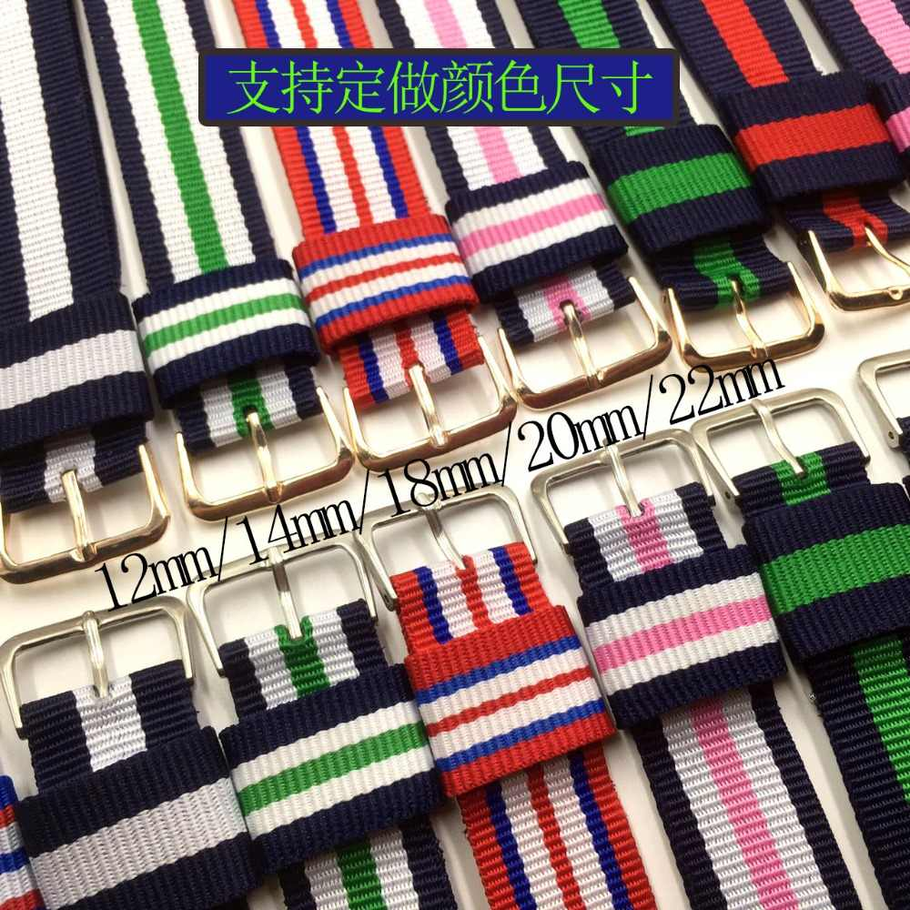 Pour 007 James bond montre bracelet bande 14mm 18mm 20mm armée sport otan tissu Nylon bracelet de montre boucle ceinture pour hommes dame toile sangle
