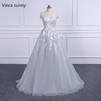 Elegant 2018 New Prom Dresses Gray Formal Evening Dresses Party Gown Pageant Dress Floor Length Vestido