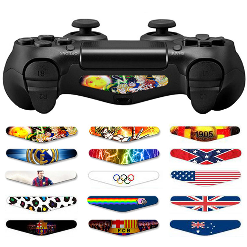 AOXO Custom Game Led Lightbar Stickers Vinyl Light Bar Decal Film For Sony PS4 Playstation 4 Dualshock 4 Controller 4 PCS