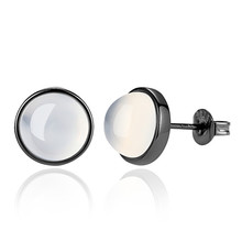 SHDEDE White Stone Stud Earrings For Women Black Fashion Jewelry 2019 New High Quality Korea Trendy Accessories -*WHG70 shdede white 7