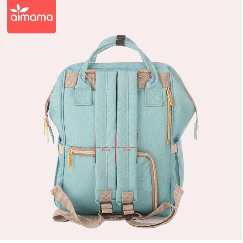 Gran capacidad de moda momia bolsa de pañales de maternidad mochila de viaje de bebé diseñador bolsa de lactancia impermeable para el cuidado del bebé bolsa de pañales - 3