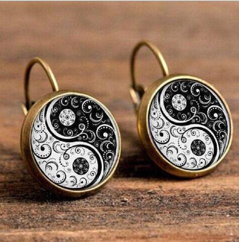 Exknl Boho Flower Drop Earrings For Women Vintage Jewelry Geometric Pattern Round Earings Bijoux boucles d'oreilles bohemia 5