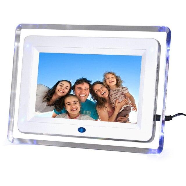 7 inche LED Photo Frame Digital Electronic Digitization Picture Album 800*480 Digital Signage Player Calendar Desktop Music