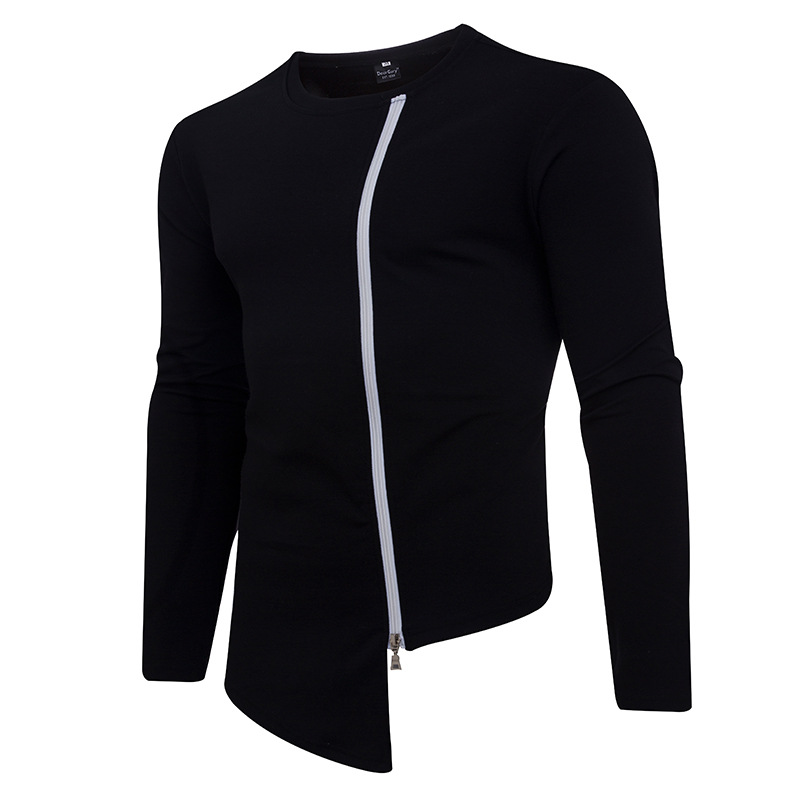 Personality Pure Men's wear Side Zipper Cool Men's wear Black and White Men's wear