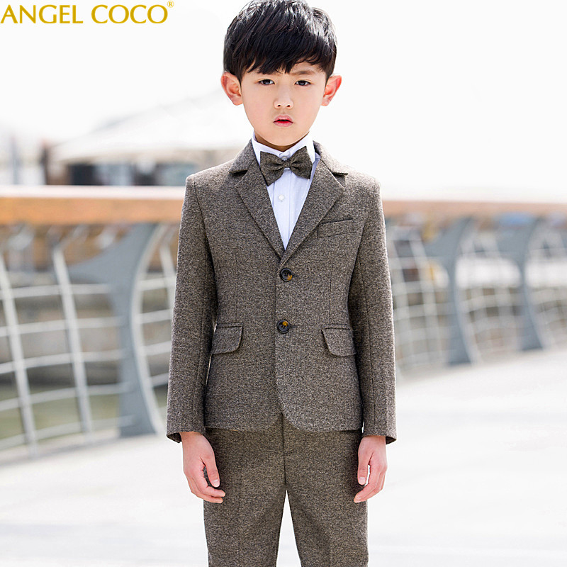 Boys Suit Big Children'S Baby Piano Performance Dress Boy Korean Male New Spring Autumn Boys Suits For Weddings Terno Infantil