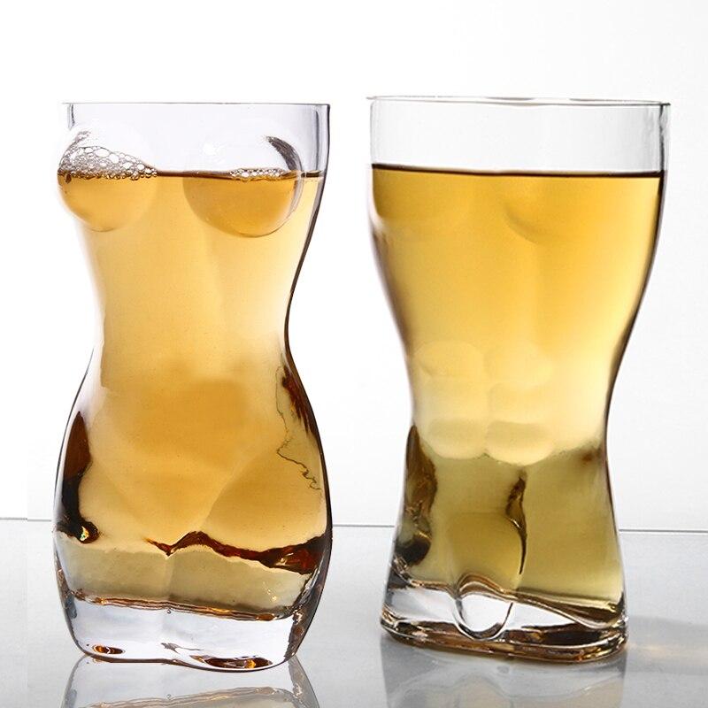 Бар личность сексуальная обнаженная Обнаженная мужчины вино Пшеница пивное стекло дух человеческого тела вкус Кубок красота герой туба вина чашка короткое стекло es - Цвет: 400ml a couple