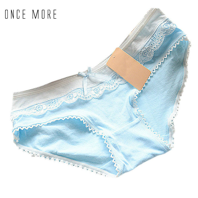 Women Girls Multi-Color Lace Breathable Cotton Blend Soft Lace Bowknot Underwear Knickers Briefs H7