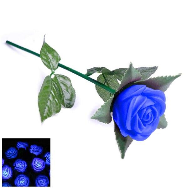Роза Романтический Открытый Двор Сад Путь Way тюльпан бар Пейзаж Цветы Ночные светильник ...