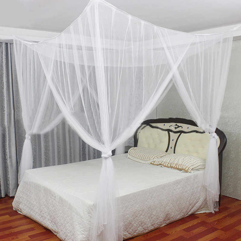 HOT 2019 Summer Mosquito Net Elegant Lace Canopy Curtain Baldachin Netting Quarto Doors For Double Moustiquaire Beds Kids Room