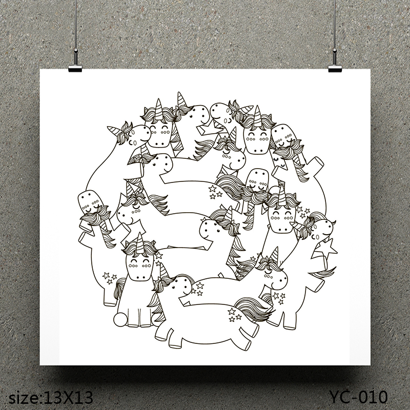 AZSG Unicorn Fairy Unicorn Clear Stamps For Scrapbooking DIY Clip Art Card Making Decoration Stamps Crafts in Stamps from Home Garden