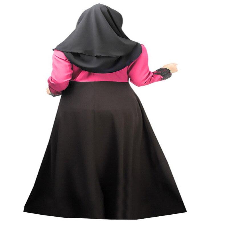 Bubble Tea Women Muslim Islamic Dress Long Sleeve 2Color Dubai Abaya - Pakaian kebangsaan - Foto 4