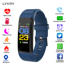 LYKRY LED Smart Watch Men Women Fitness Bracelet Watches Sport Running Heart Rate Monitor Smartwatch For IOS Android