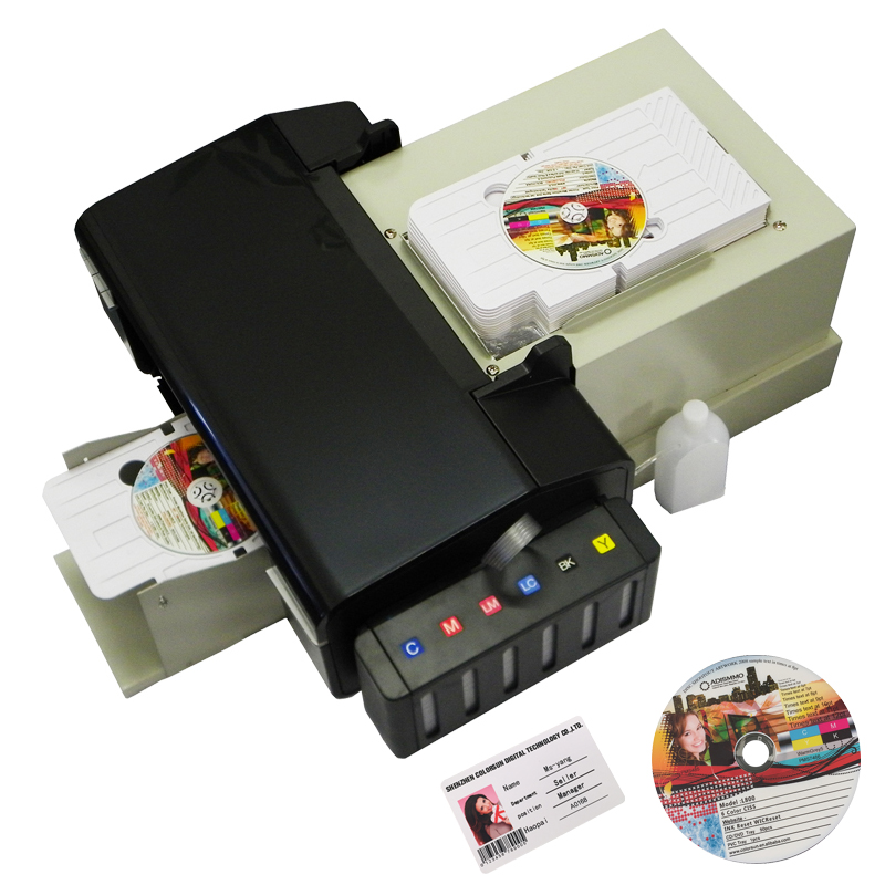 Automatic CD Printer DVD Disc Printing Machine  with 51pcs CD/PVC Tray Export quality PVC Card Printers for Epson L800-in Printers from Computer & Office    1