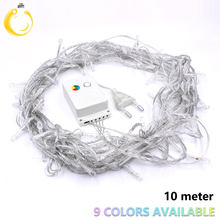 String Light 100 LED 10M Christmas/Wedding/Party Decoration Lights garland AC 110V 220V outdoor Waterproof led lamp 9 Colors(China)