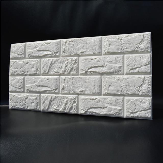 30*60cm white 3d brick wall sticker self adhesive panel decal