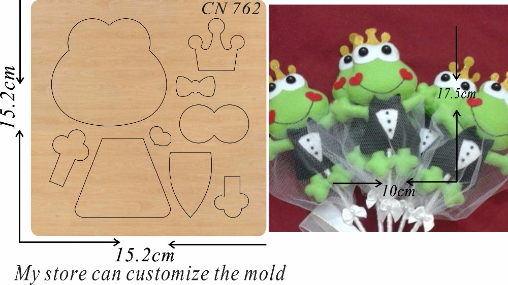 Little frog new wooden mould cutting dies for scrapbooking Thickness 15 8mm