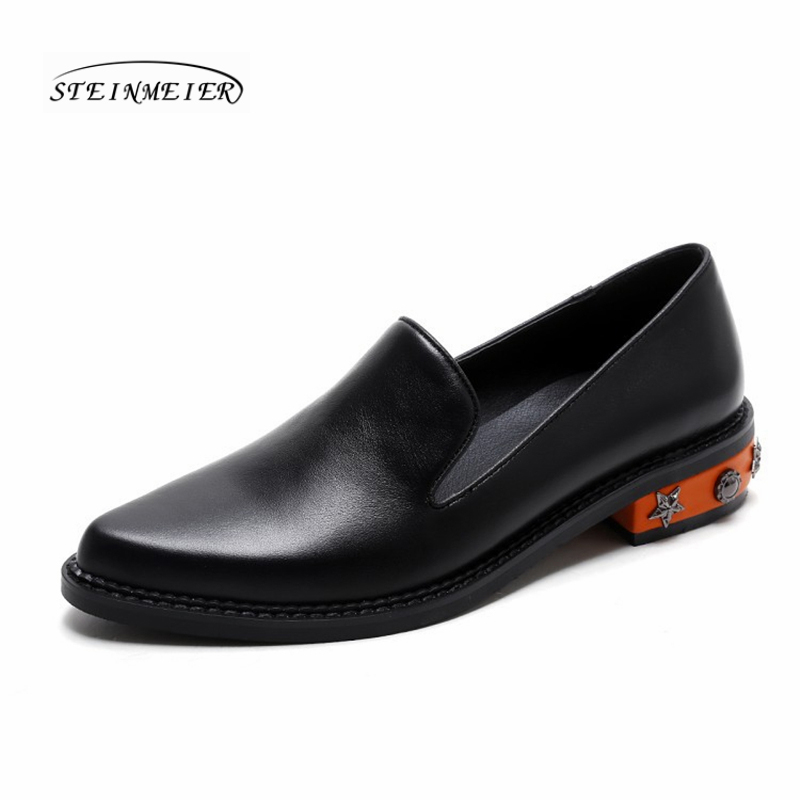 Woemn flats summer spring single oxford shoes 2019 genuine leather flat heels fashion shoes for woman brogues slipon shoesWoemn flats summer spring single oxford shoes 2019 genuine leather flat heels fashion shoes for woman brogues slipon shoes