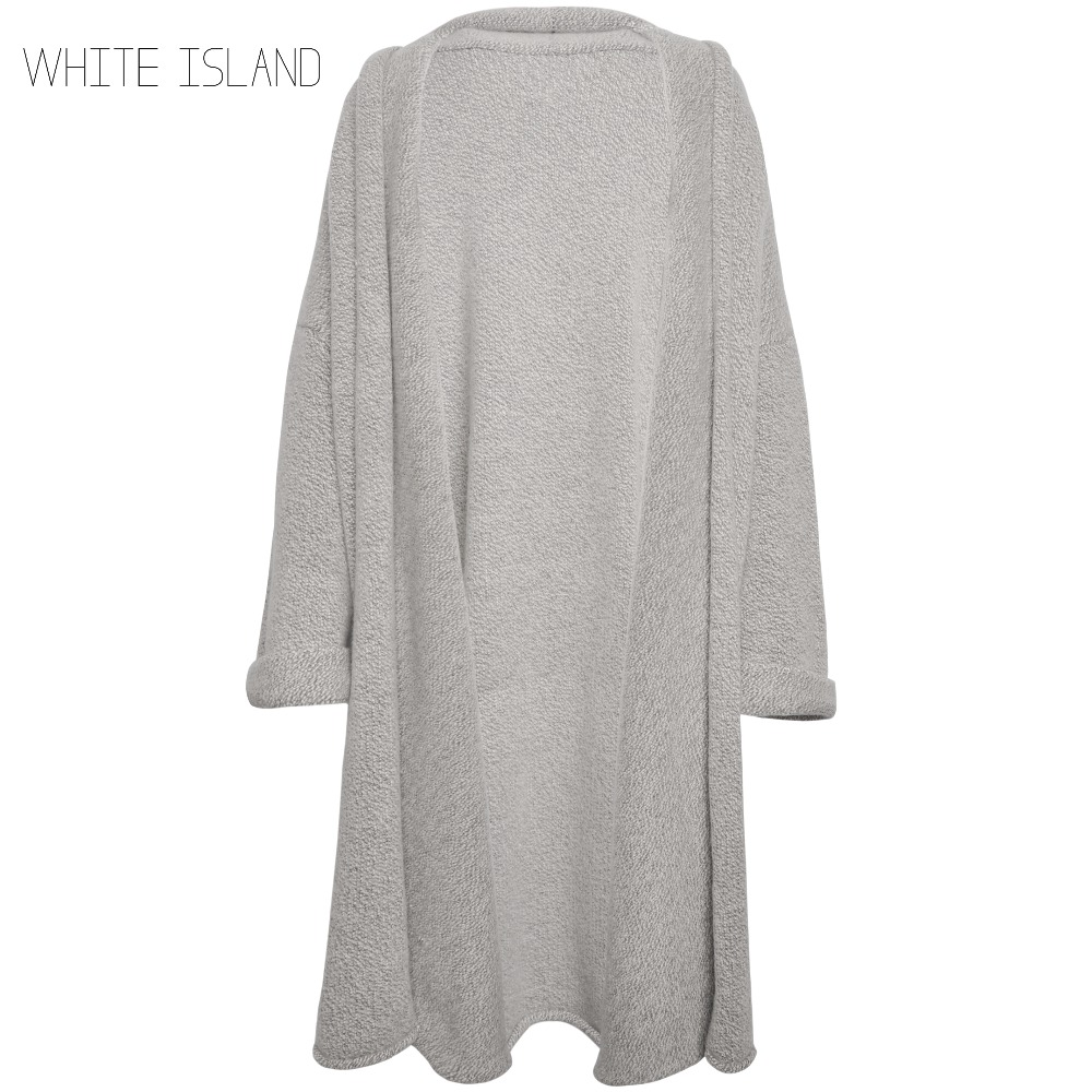 WHITE ISLAND Extra long cardigan plus size sweater Winter warm ...