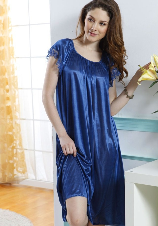 New 2017 Sexy Womens Nightgowns Casual Chemise Nightshirts -7338