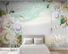 beibehang Simple classic wall paper three-dimensional fashion fantasy rose 3D living room TV background 3d wallpaper decoration