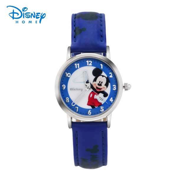 100% Genuine Disney cartoon watches Mickey minnie snow White Watch children Leather quartz-watch Fashion gifts for kids 88601
