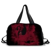 FORUDESIGNS Red Eye Black Swan Ballet Travel Bags Cool Halloween Skull Luggage Bags For Women Girls Duffle Tote Bag Wholesale