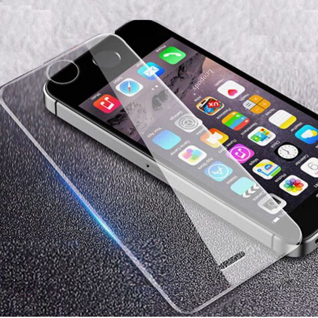 best service 702d0 22d44 Tempered glass For apple iphone 5 5S 5C SE Case screen protector on For  iPhone 5s Protective film Glas SKLO cover for iphone -in Phone Screen ...