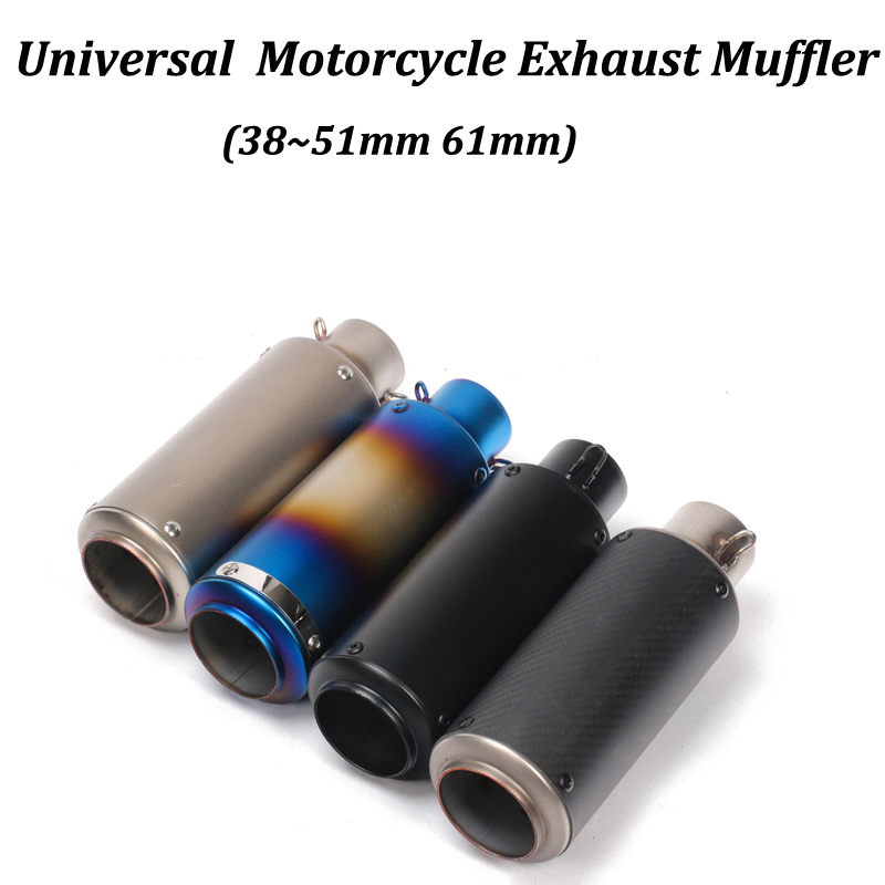 38~51mm Universal Motorcycle <font><b>Exhaust</b></font> Muffler Modified With S/C LaserMarking For R6 YZF-R6 Honda CBF190R Ninja 650 ER6N <font><b>Z650</b></font> ER6F image
