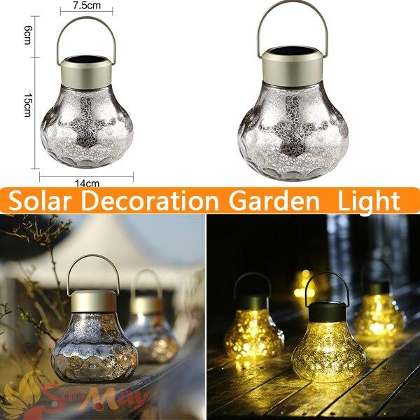 LED Solar Light Outdoor Decoation Lighting Solar Lamp Glass Outdoor Lantern LED Solar Garden Light Top Sale Garden Decor northwest top 10 garden guide top 10 garden guides