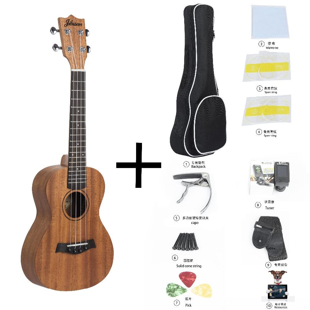 Jibusen Tiger Flame Classical Concert Ukulele Starter Kit Solid Okoume 23 Ukelele Hawaii Guitar magnum live in concert