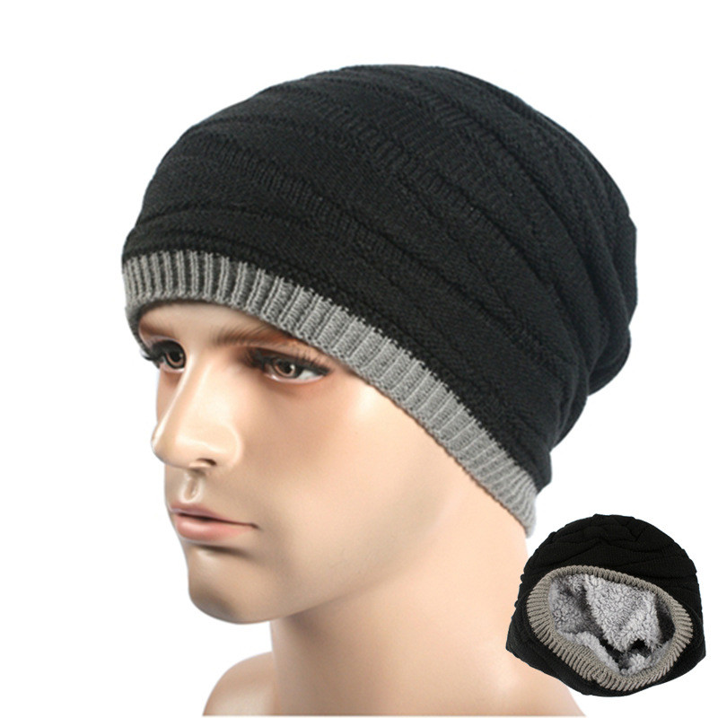 Fashion Unisex Fleece Bonnet Beanies Knitted Winter Skullies Hat Women Men Beanie Warm Baggy Cap Casual Wool Gorros Touca Oct13 2016 band beanies winter men knitted hat reversible beanie for new women unisex baggy warm skullies skull cap bonnets gorros