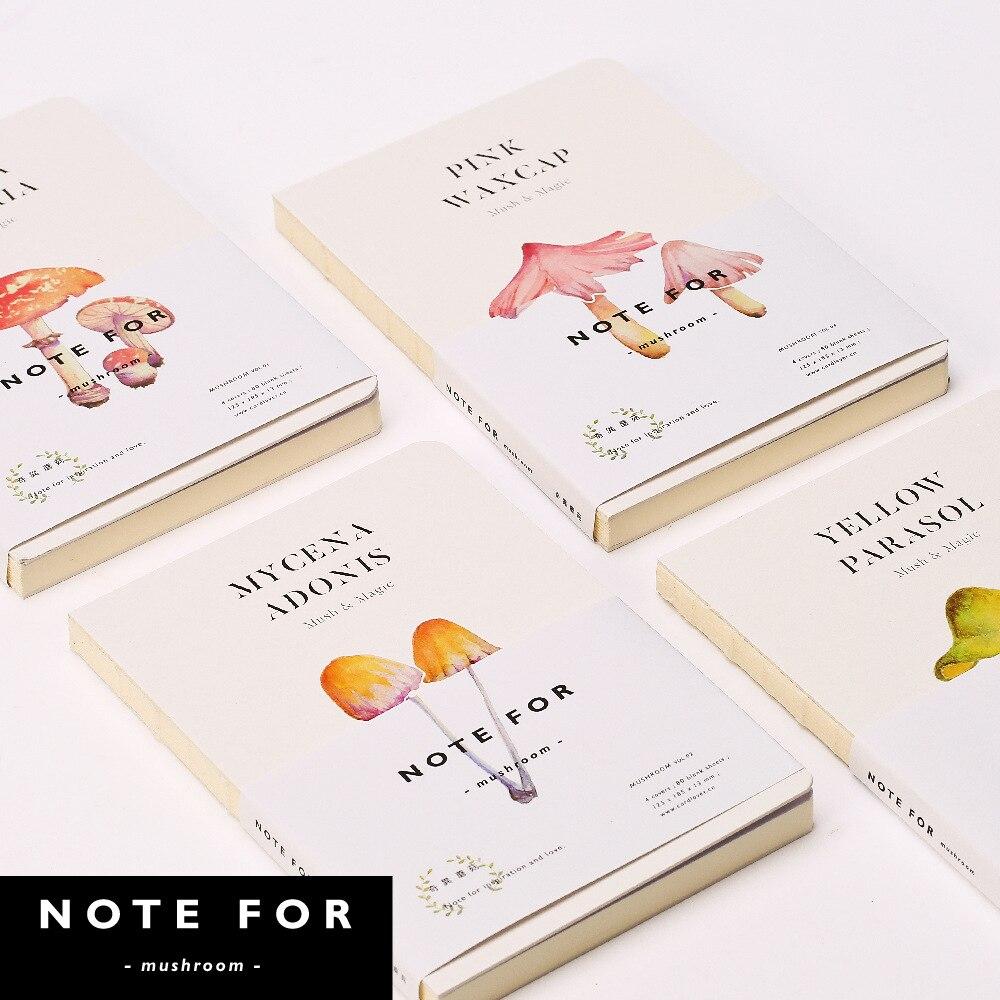 Erfinderisch Hinweis FÜr Pilz A5 Notebook Leere Seiten Hinweis Buch Sketch Diy Persönliche Tagebuch Buch Schreibwaren Geschenke