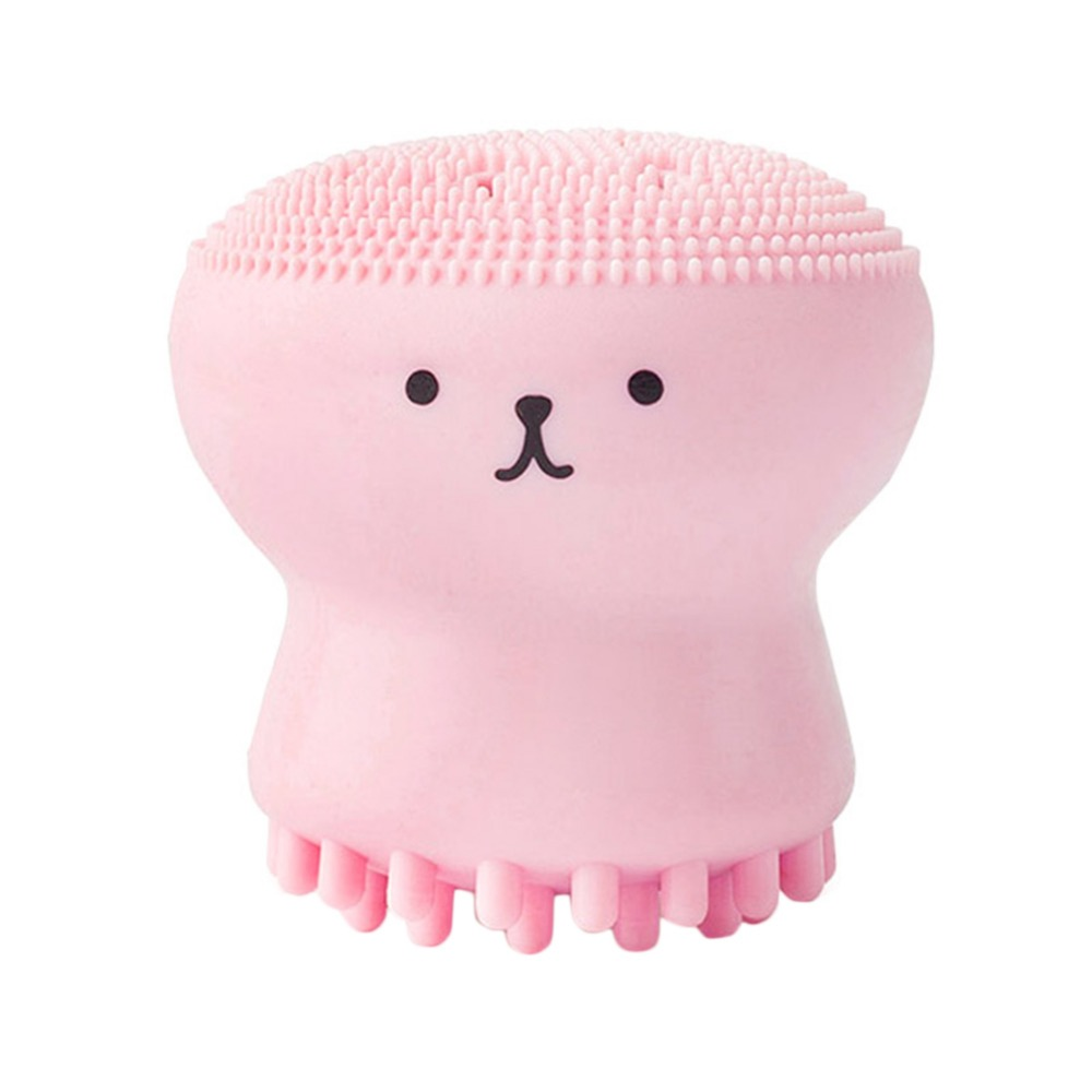 1pc Pink Jellyfish Shaped Silicone Octopus Face Cleanser Powder Puff Brush Face Cleaner Brush Tool Suitable For Daily Use1pc Pink Jellyfish Shaped Silicone Octopus Face Cleanser Powder Puff Brush Face Cleaner Brush Tool Suitable For Daily Use