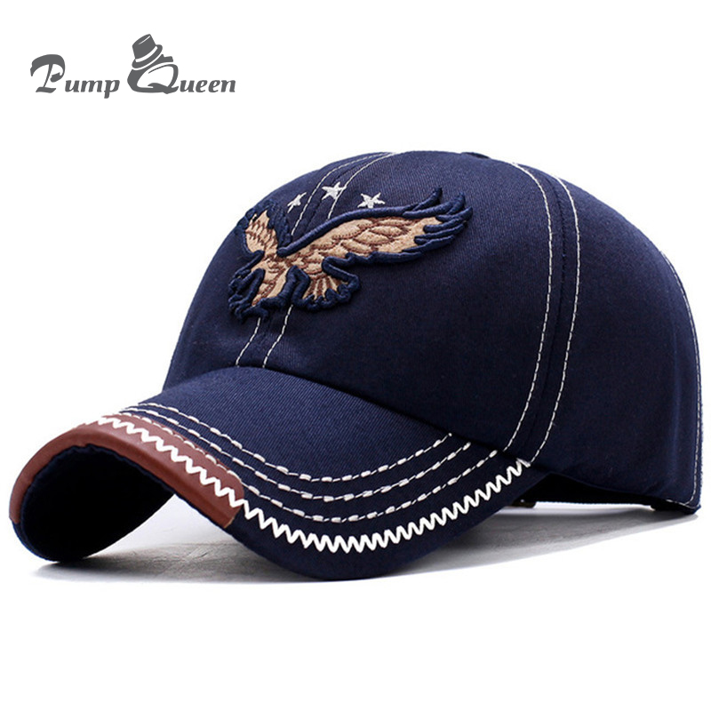 2018 New Heavy Washed Denim 3D Eagle Embroidery   Baseball     Caps   Men Women Sports Active Casual Hat One Size Adjustable
