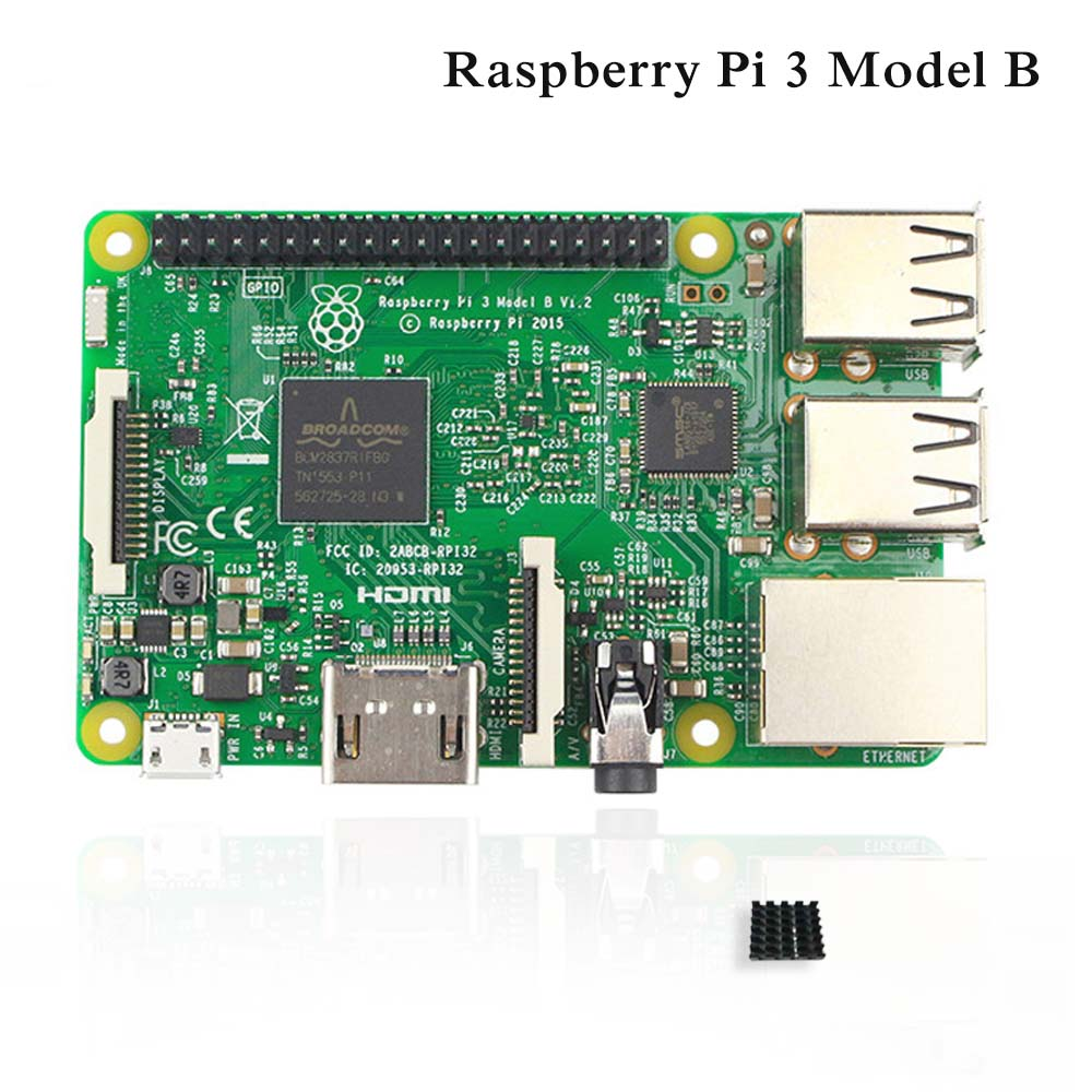 Raspberry Pi 3 Model B Board 1GB LPDDR2 BCM2837 Quad-Core Ras PI3 B,PI 3B,PI 3 B with WiFi&Bluetooth RS version delicate hot 2016 fashion baby new lovely baby kids girls mini bowknot hairband elastic headband ju15