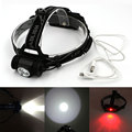Mini Headlight USB Rechargeable Lantern Headlamp 1000 Lumen 3 Modes Flashlight Head Torch + USB Charger By 2x 18650 Battery