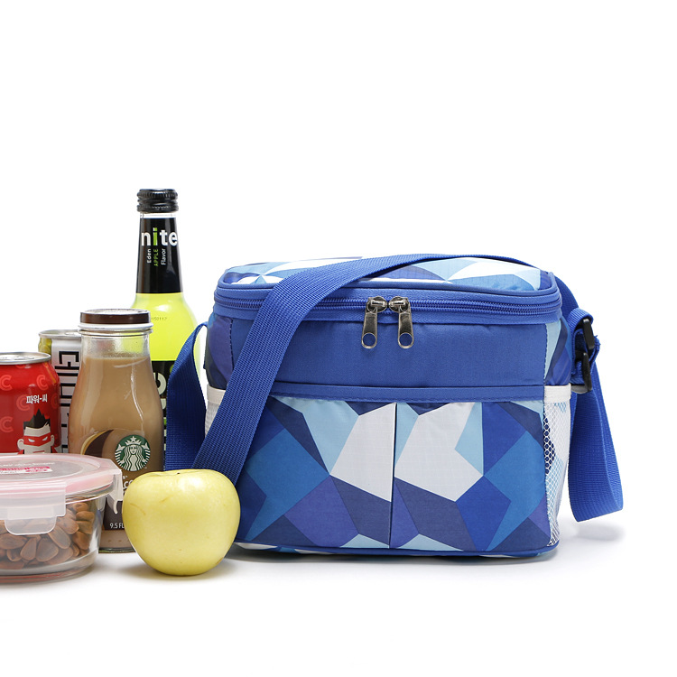 Nylon thermal picnic cooler bags food storage lunch handbag insulated cool shoulder ice bag thermo lunch box 5L 11L 21L