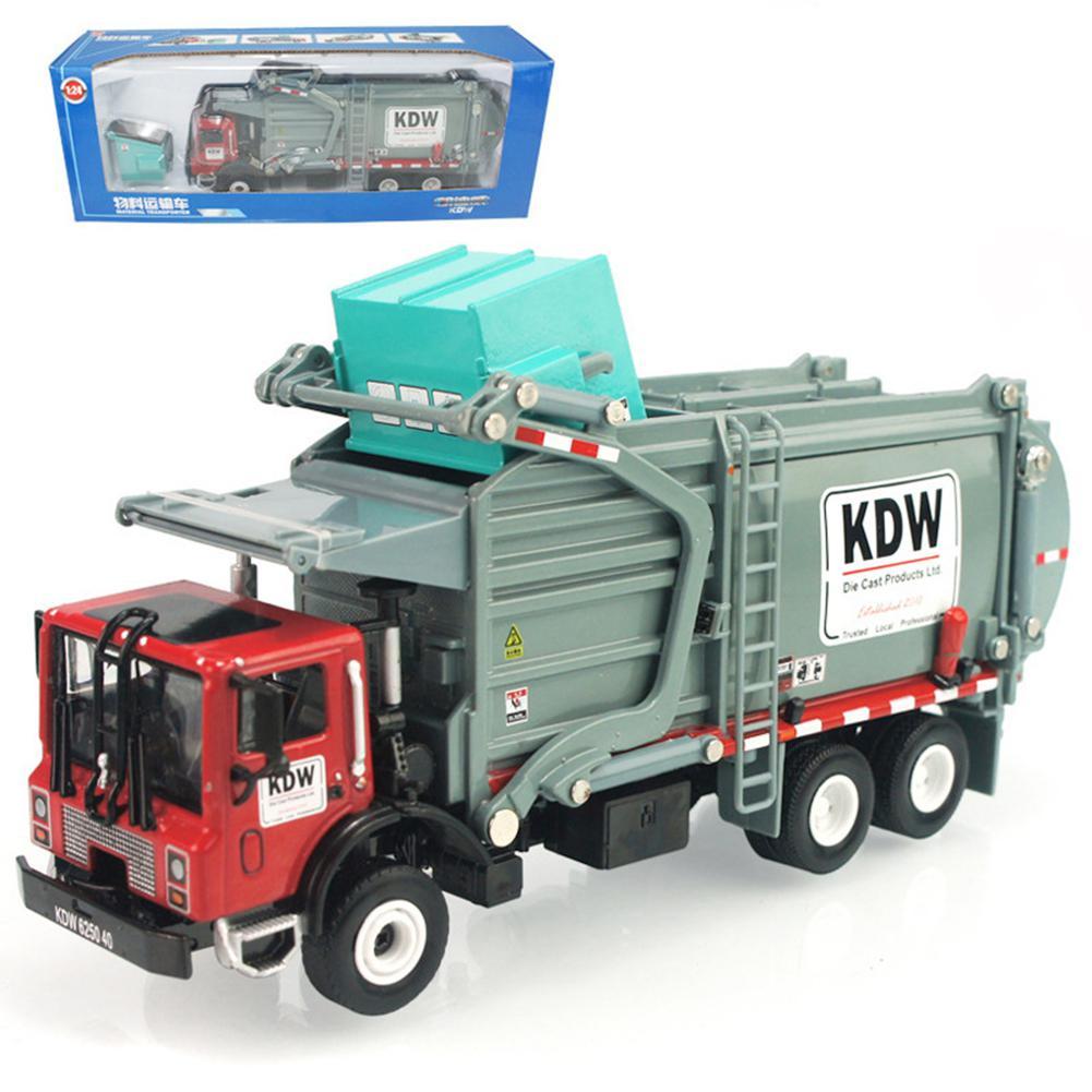 RCtown 1:24 offre spéciale 1 pièces enfants Simulation inertie camion à ordures assainissement voiture jouet enfant jouets en gros alliage camion voitures jouet