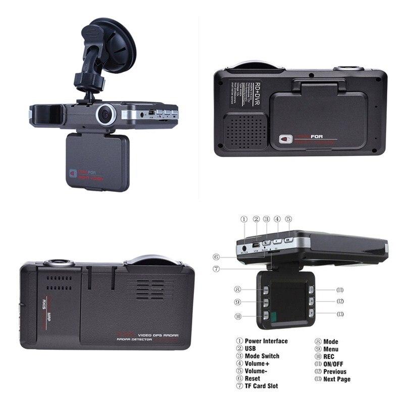 1pcs 2 In1 Car Auto DVR Radar Dash Cam Laser Video Speed Detector GPS Car Camera Record