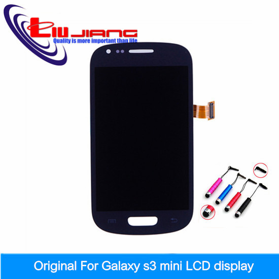 ФОТО New Blue for i8190 LCD Display + touch screen with digitizer Assembly For Samsung Galaxy S3 mini i8190 Free shipping