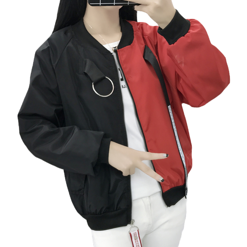 Bomber   Jackets   Women New Women's   Basic     Jacket   Fashion Windbreaker Outwear Female Baseball Women Coat