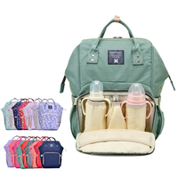 Fashion 18 Color Multifunctional Maternity Large Capacity Nappy Diaper Bag Mummy Travel Backpack Nursing Bag For
